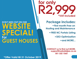 Website Special for Guest Houses | Grootdrink Accommodation, Business & Tourism Portal